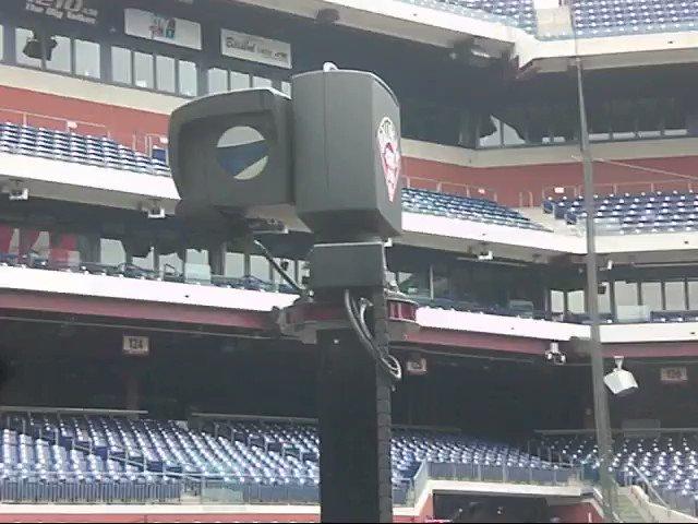 Image for the Tweet beginning: MLB's Ballpark Cam system developed