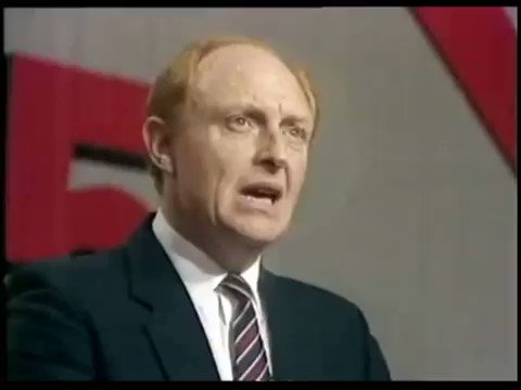 Image for the Tweet beginning: #OTD 1985. Neil Kinnock takes