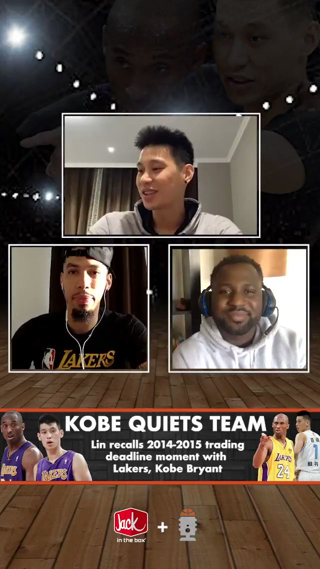 """Jeremy Lin talks about the time an injured Kobe showed up to practice a day before the trade deadline   """"I just came by to say bye to some of you bums who are going to get traded tomorrow."""" 💀💀💀  (🎥 @GreenRoomInside )"""