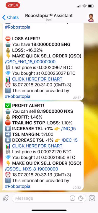 #Robostopia Smart #CryptoCurrency Trader Bot for #Binance and #Bittrex  Trailin... 2