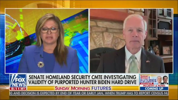 Image for the Tweet beginning: Ron Johnson is on Fox