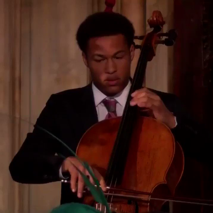 He plays a 400-year-old cello. He is 19 years old. His two sisters are musical geniuses, too. Here's Sheku Kanneh-Mason, one more time, with the heart-lifting song that wowed the #RoyalWedding  #Recharge /3