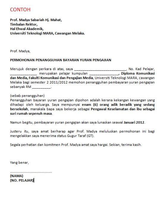 KOMED UiTM Melaka on Twitter Contoh Surat Rasmi