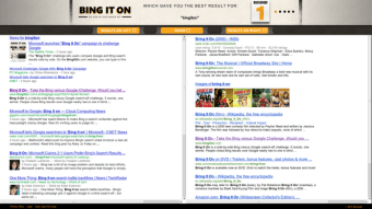 Bing's Tool For Showing How Much Better Bing Is Than Google Struggles With A Search For Itself