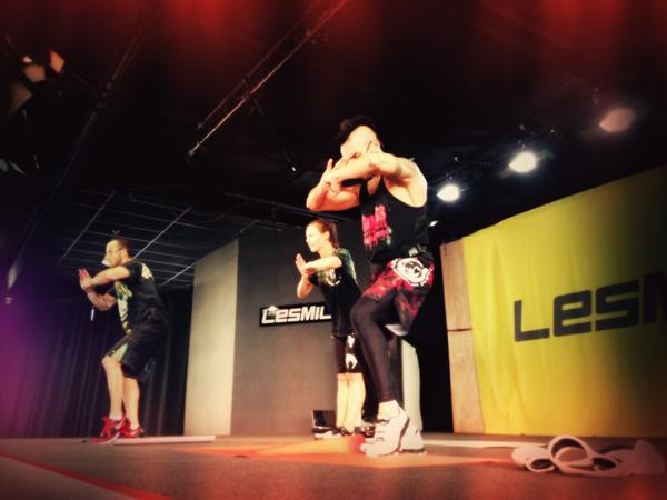 Sending you lots of love today for #BODYCOMBAT 55 filming!!