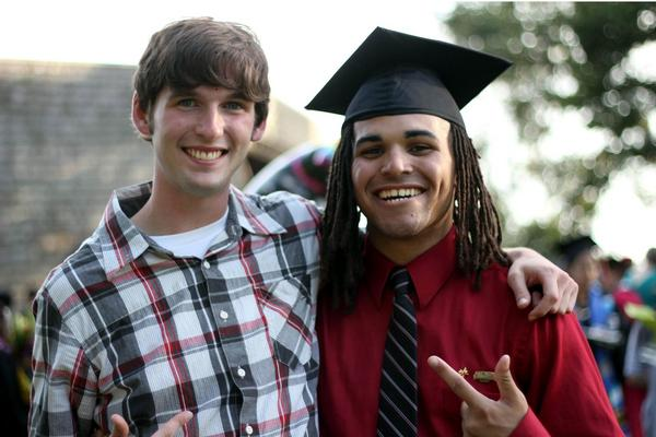 My best friend and I on the day I graduated from college.