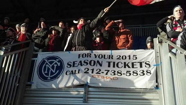 Dc United S Traveling Support Snuck An Nycfc Banner Into Red Bull Arena Tonight Which Was Epic Dc United Season Ticket The Unit