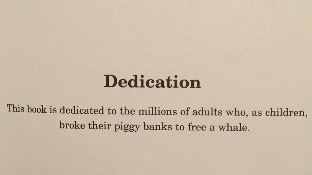 "Isaac On Twitter ""Best Dedication Page I've Seen In Any"
