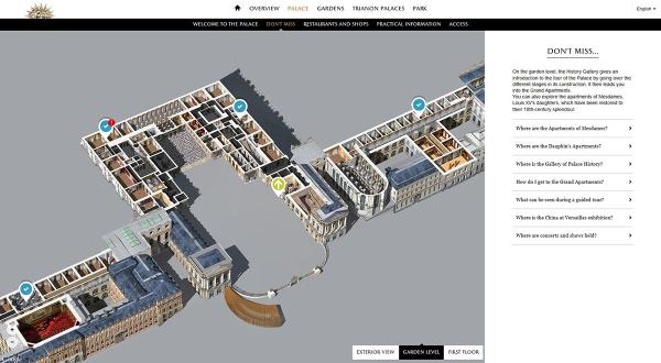 Chateau de Versailles on Twitter quotNew interactive map of