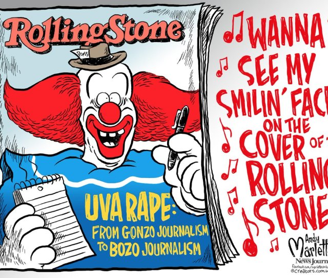 Andy Marlette On Twitter New Cartoon From Gonzo Journalism To Bozo Journalism Rollingstone Uva Uvahoax T Co Yutqjzce