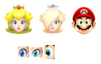 test ツイッターメディア - ロゼッタの目はピーチとマリオ、それぞれの特徴を持っています。まつげや輪郭はピーチ、目の色はマリオとほぼ一緒です。https://t.co/6M2KpyTkiS