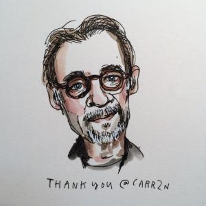 David Carr portrait from Wendy Macnaughton