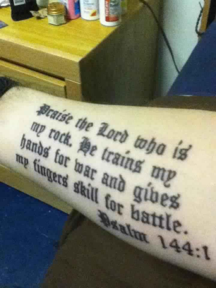 Psalm 144 Tattoo : psalm, tattoo, Rock's, Scowl, Twitter:,