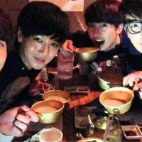 130228 Kyuhyun's Twitter Updates: Have Fun and Eat with Donghae, Eunhyuk, Yesung, Kangin Hyungs