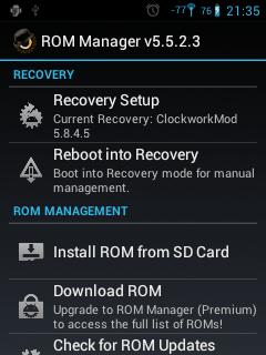 Cómo Instalar ClockWorkMod Recovery Personalizado en el LG Optimus L3