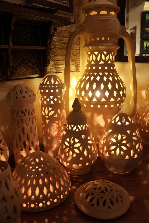 Desert Designs on Twitter Clay Lanterns for Ramadhan