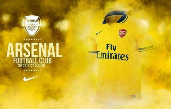 BNnox6nCAAESyT  Leaked Picture! Arsenals brand new 2013 14 away kit is revealed