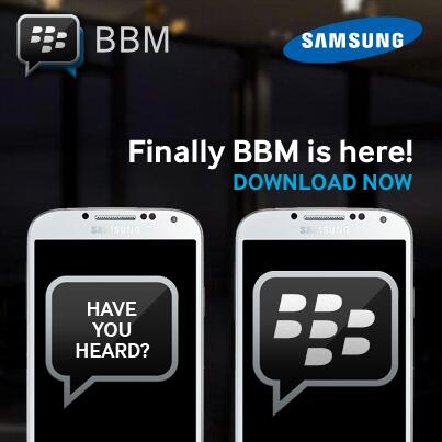 You Can Now Use BBM On Android Samsung Smartphones