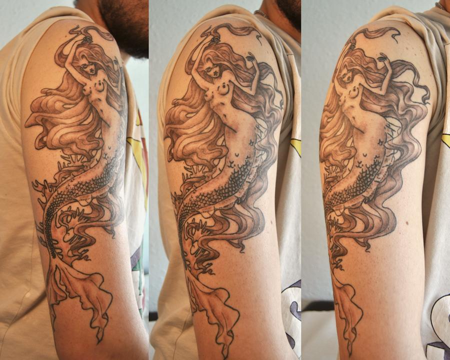 Miriam Jordan Ink On Twitter Sirena Diseño Personalizado Tattoo