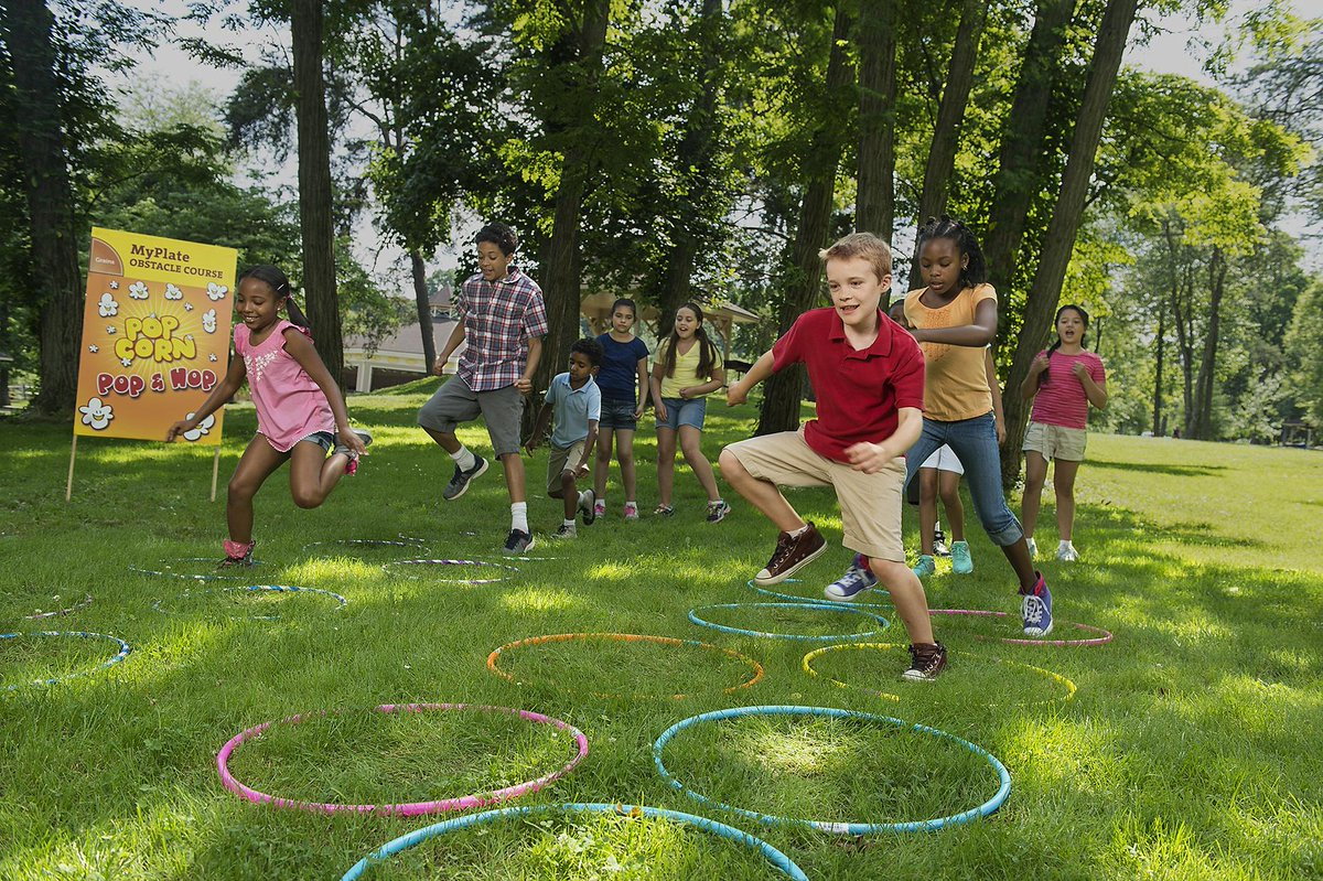Create A Myplate Obstacle Course To Get Kids Moving And Learning A