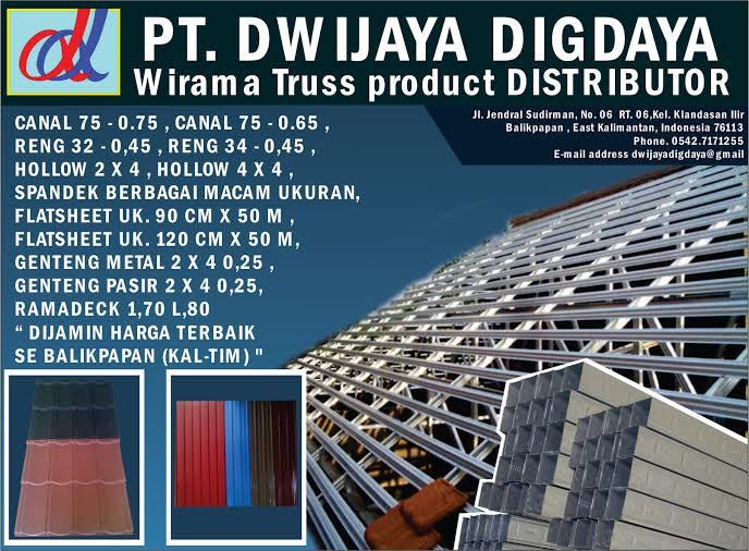 pemasangan atap baja ringan balikpapan pt dwijaya digdaya on twitter menerima rangka dan