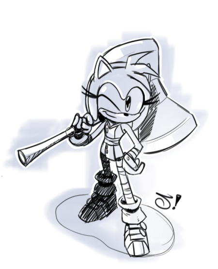 Sonic Boom Amy by Ryan Jampole