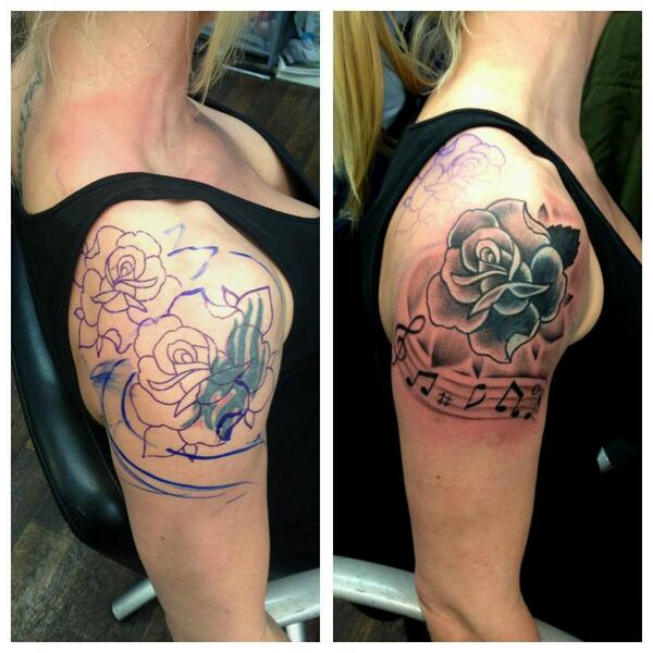 Solid Black Tattoo Cover Up