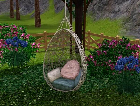 hanging chair the sims 4 office knobs bohemian garden set with new premium content additionally there is an image from simgurucopeland s twitter feed