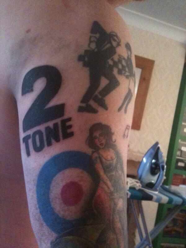 2 Tone Tattoo : tattoo, Twitter:, Tattoo, #2tone, Http://t.co/EynVvdEbHu