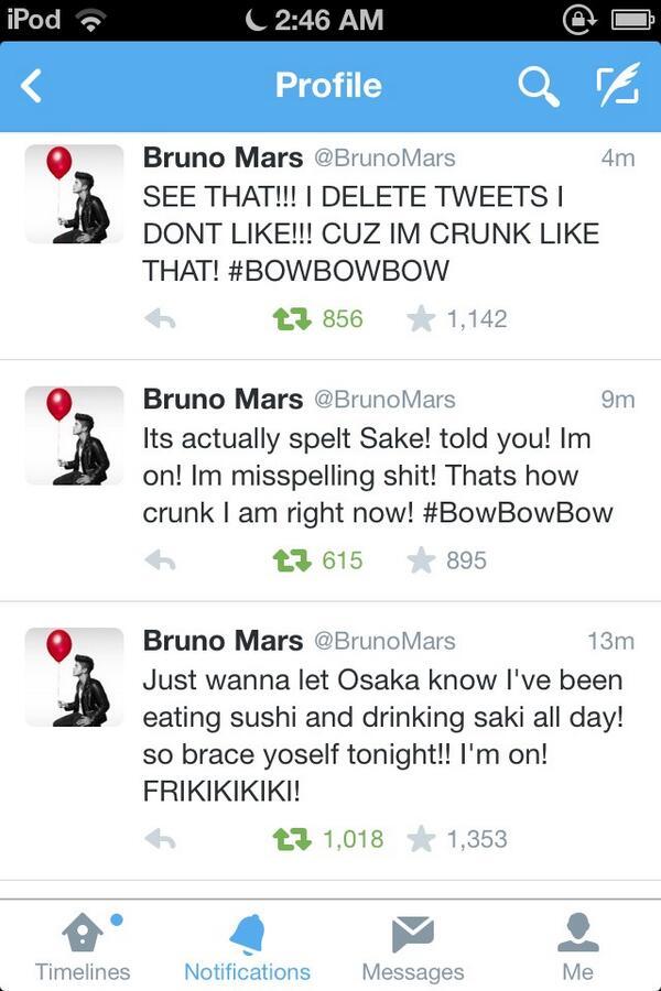 bruno mars on twitter