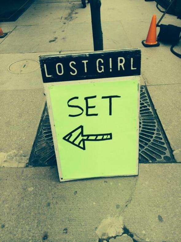 Lost Girl set sign