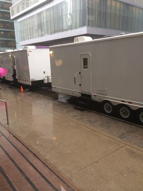Lost Girl trailers on location