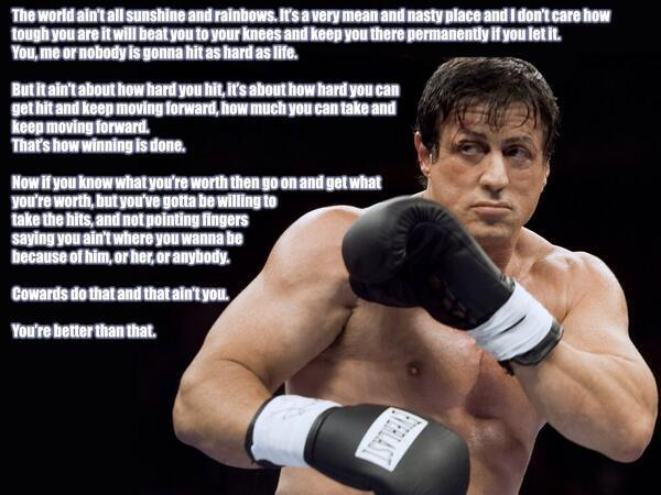 Rocky Motivational Speech Quote Immigration Policy Of Us