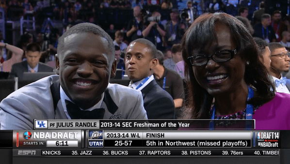 "3030 on Twitter: ""Julius Randle & Mom - 2014 NBA Draft  http://t.co/84Z26I3dCw"""