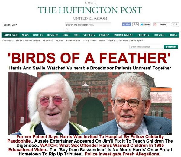 Image result for savile and rolf harris