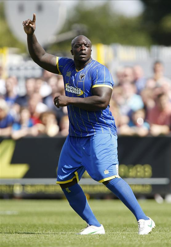 Ade Akinfenwa against Chelsea today Bouncer  Scoopnest