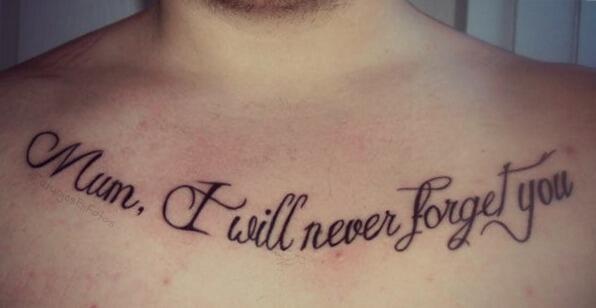 Tatuaje Con La Frase Mamá Nunca Te Olvidaré Tweet Added By Tatuajes