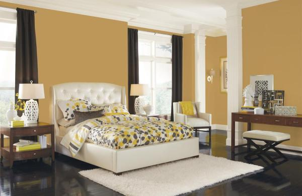 """gold bedroom paint colors Sherwin-Williams on Twitter: """"Here's some inspiration for adding September's Color of the Month"""