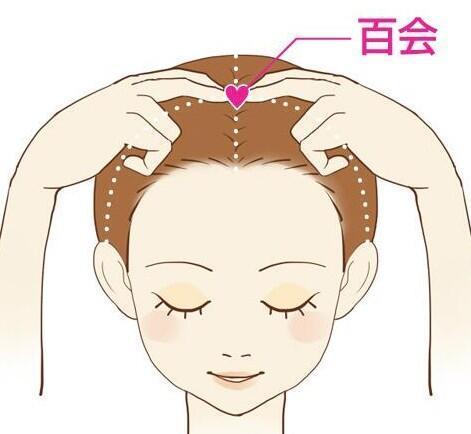 test ツイッターメディア - 【食欲を抑えるツボ百会】  頭頂部のほぼ中央で、 両耳の上端を結ぶ線と眉間の中央から延ばした線が交わるところにあるツボ。  刺激することで食べ過ぎを防いでくれるといわれています。 https://t.co/yRAuklOO6u