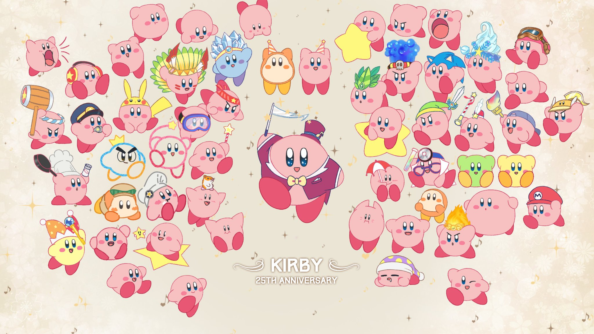 "아루 Aru On Twitter ""🎉🎉 Celebrate The Kirby's 25th"