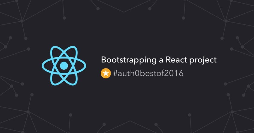 Learn how to bootstrap a #ReactJS project without complexities! ⚛❤️ #auth0bestof2016 👉