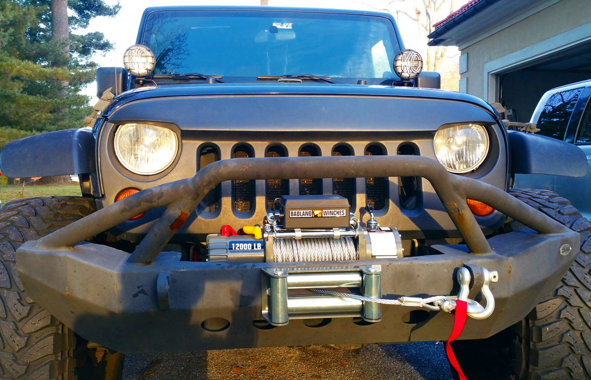 hight resolution of johnny alonso on twitter just installed my badland 12000 lb winch on my jeepwrangler so badass jeeplife offroad johnnyalonso 4x4experience
