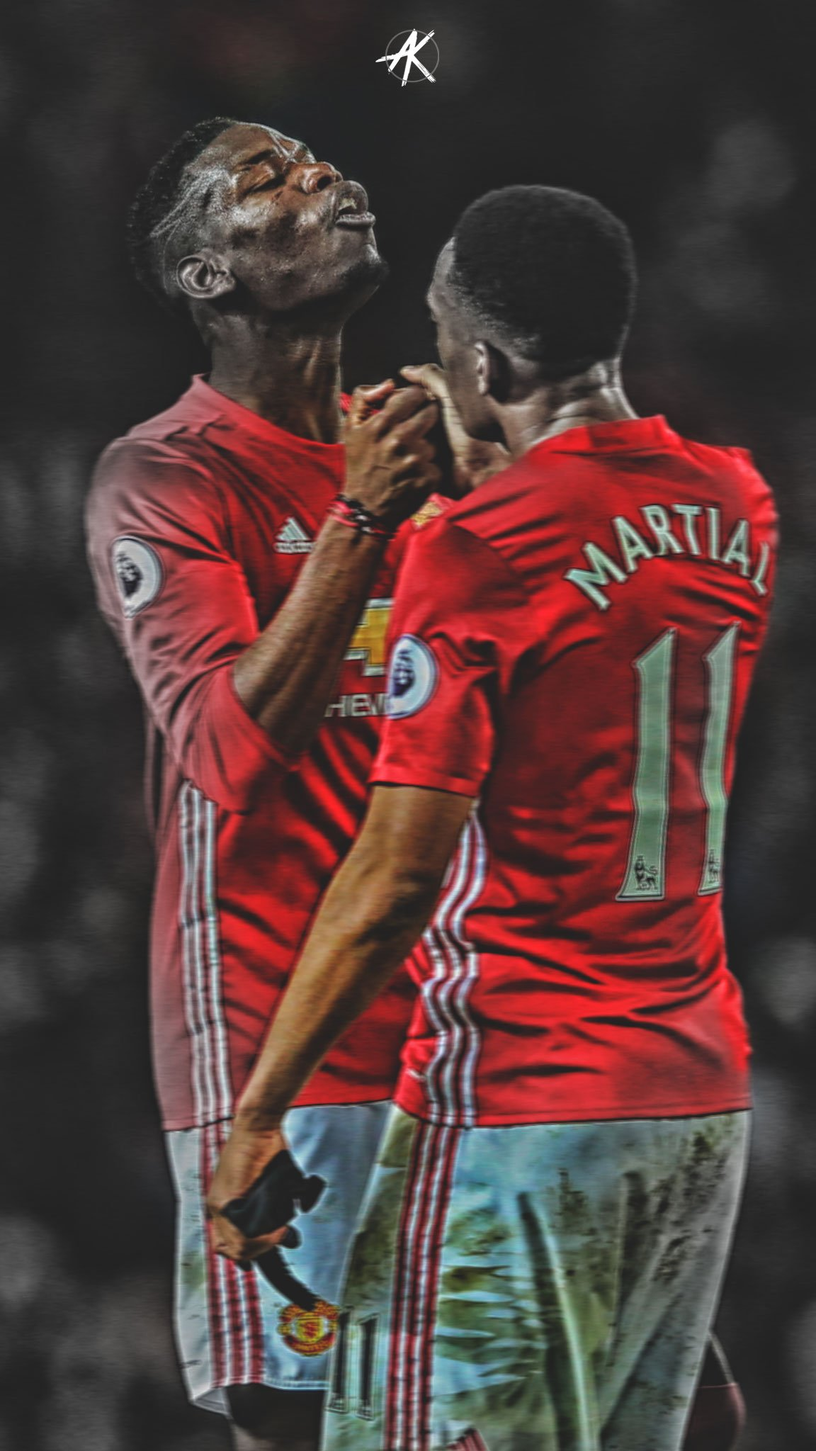 Mufc Iphone Wallpaper Ak Gfx On Twitter Quot Paul Pogba Amp Anthony Martial Iphone