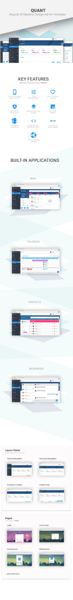 Quant - AngularJS Material Design Admin Template (Admin Temp..  | tweeps .co