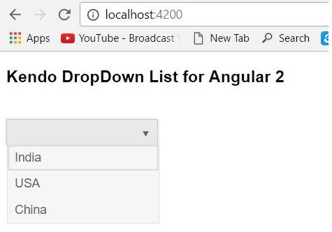 #Kendo #DropDownList For @angularjs 2  by @gowthamkk7 via @CsharpCorner #angular2