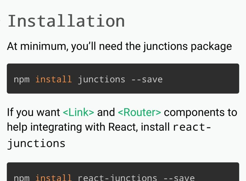 Junctions: Routing you can follow  #ReactJS