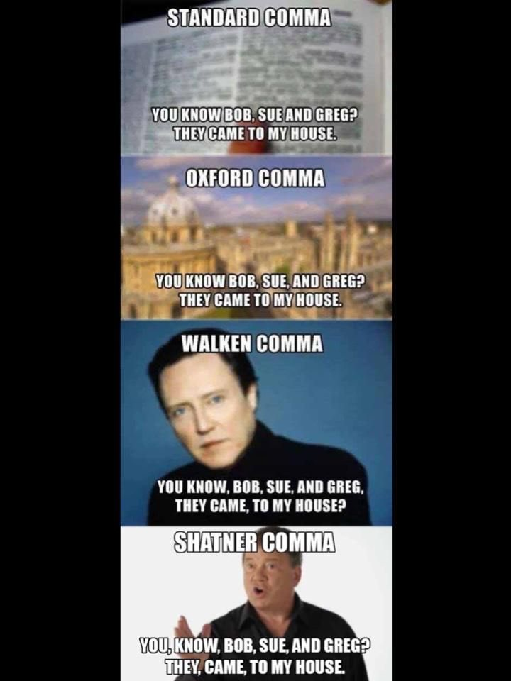 Walken Comma Shatner Comma : walken, comma, shatner, Haiku, Twitter:, Oxford, Comma, Props, Walken, Shatner, Comma., #AmWriting, #Oxford, #haiku…