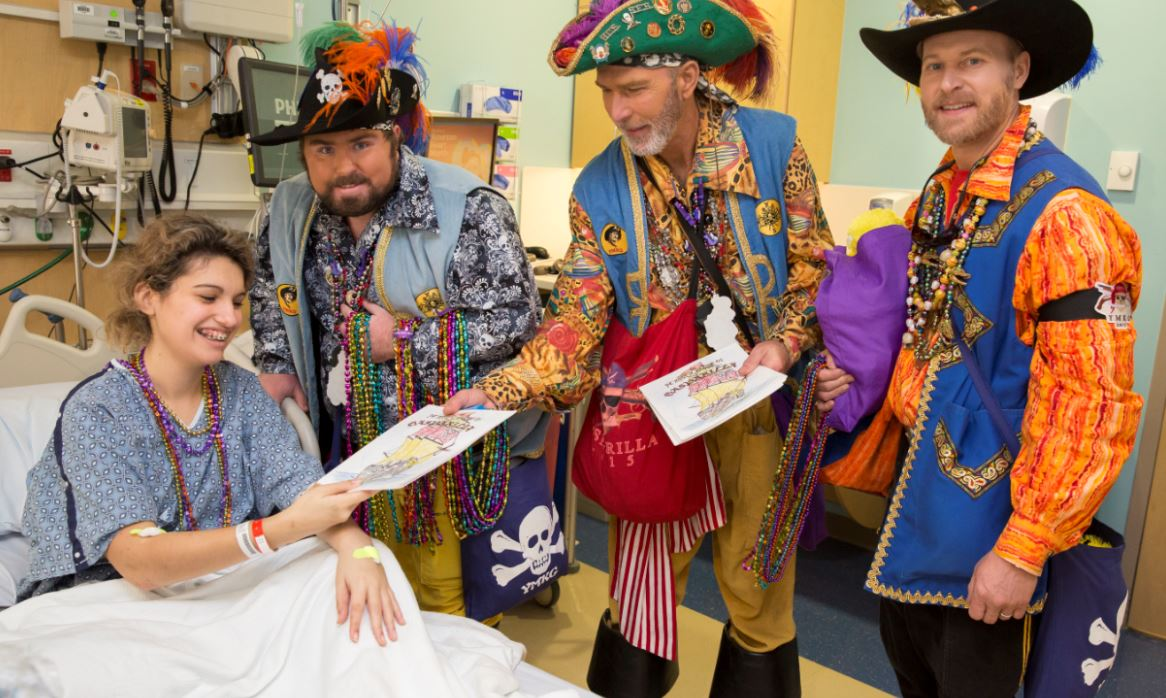 Busy day: Gasparilla pirates visit sick kids then demand Tampa's surrender: