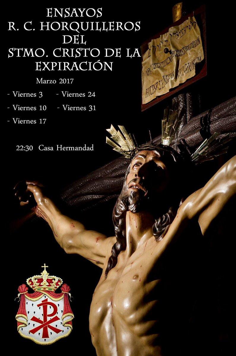 Fechas de los ensayos durante el mes de marzo para la cuadrilla de hombres de trono del Cristo