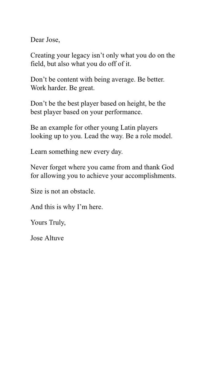 "Jose Altuve On Twitter ""Letter To #MyFutureSelf Set An"